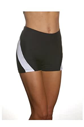 Show No Love Women's Serena Short for Tennis and Yoga (black&white size s)