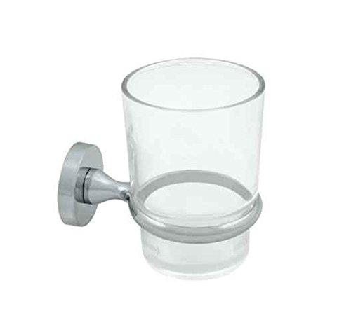 Deltana Zinc Toothbrush Holder w Glass - BBN Series (Set of 10) (Satin ()