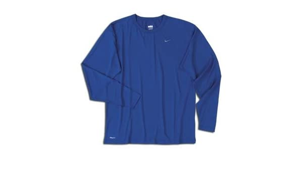 3af10413e Amazon.com: Nike Pro Basic Dri-FIT Long Sleeve Crew ROYAL: Clothing