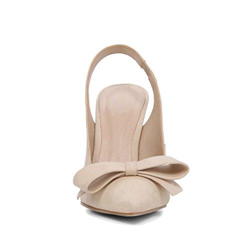 Kolnoo - Zapatos con correa de tobillo Mujer Beige