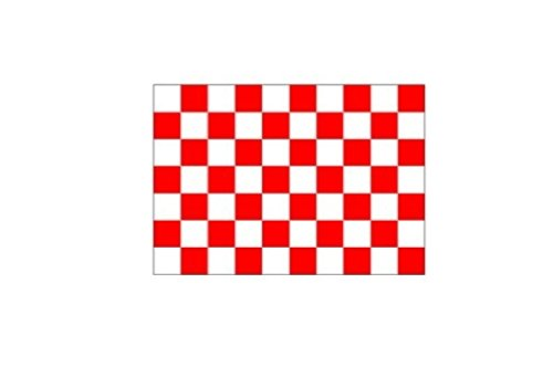 6 ft. Red & White Checker Bicycle Safety Flag with Rear Axle Mounting Bracket