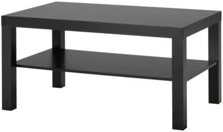 Ikea Mesa de sofá Lack, Color Negro marrón, 90 x 55 cm: Amazon.es ...