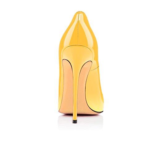 uBeauty multicolore da Scarpe Col Tacco Classiche Tacco Scarpe Col Scarpe Giallo Donna rPrSq