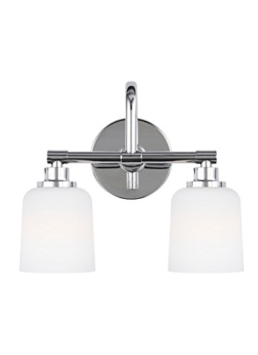 Feiss VS23902CH Two Light Vanity (Chrome Etched Bath)