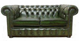 Chesterfield 2 Seater Antique Green Leather Sofa Offer Amazonco