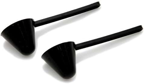 Chef Craft Coffee Scoop, Black, 2-Pack