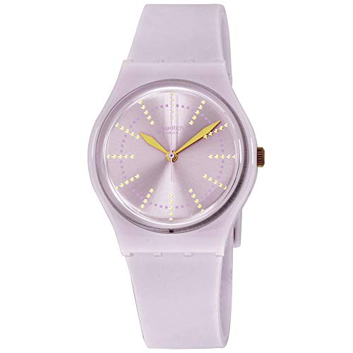 Swatch Originals Guimauve Pink Dial Silicone Strap Ladies Watch GP148