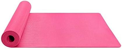 Eco friendly ヨガマットストラップ183センチメートルロングX61cmでヨガフィットネスとエクササイズマット厚さ6mmワイド exercise (色 : Pink)