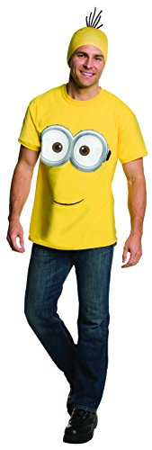 Minion Costume Women (Rubie's Costume Co Men's Minion Costume T-Shirt, Yellow, Large)