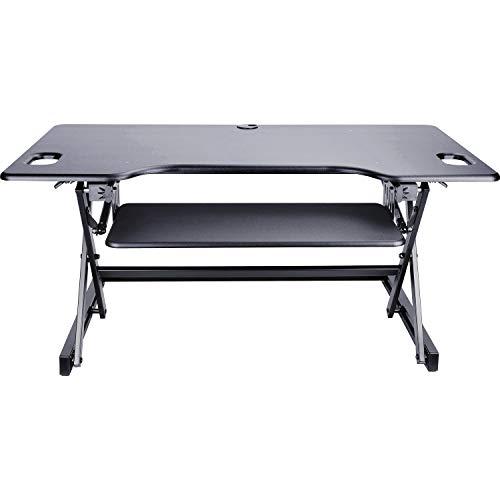 Lorell LLR82013 XL Adjustable Desk Multipurpose Desktop Riser Black