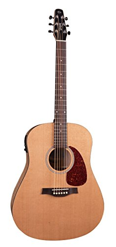 (Seagull S6 Classic Dreadnought Acoustic-Electric Guitar Natural With B-Band M-450T)
