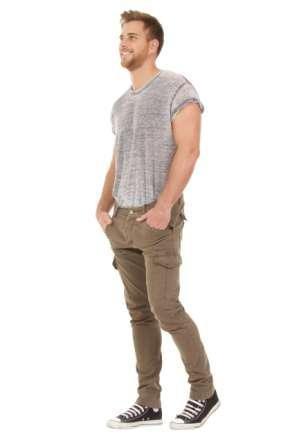 Herren Cargohose - Khaki Slim Fit Combat Hose mit vielen Tasche LIAMKHAKI:  Amazon.de: Bekleidung
