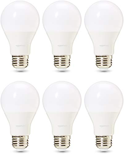 - AmazonBasics Commercial Grade LED Light Bulb | 60-Watt Equivalent, A19, Daylight, Dimmable, 6-Pack