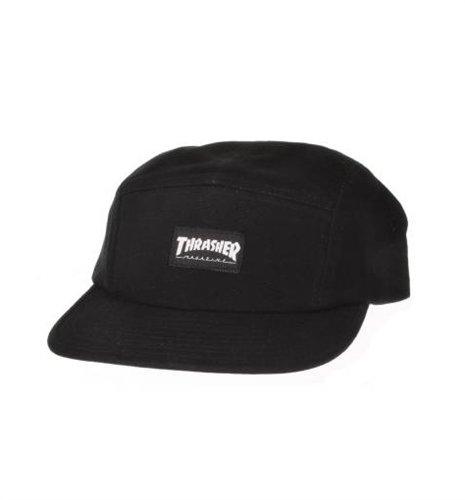 Thrasher Magazine Mag Logo Black 5 Panel Hat - Adjustable