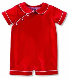 Mud Pie Red Corduroy Bubble (9-12 Months)