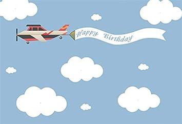 Amazon Com Baocicco Cartoon Flying Plane Backdrop 5x3ft Cartoon