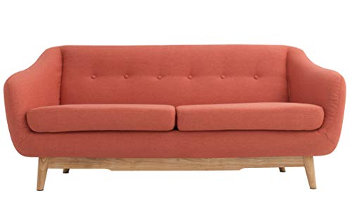 (Modern Design Serenity Tufted Fabric Sofa (Orange))