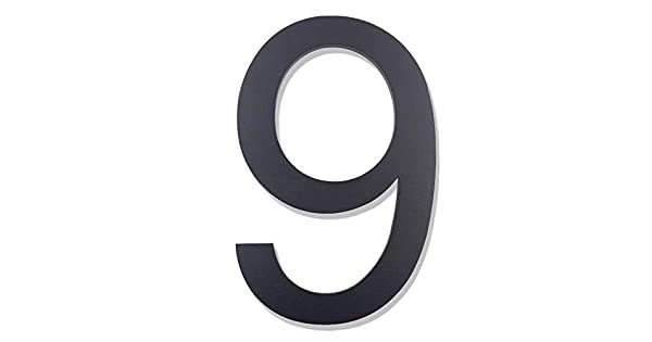 Amazon.com: Modern números de casa – 6 pulgadas de alto ...