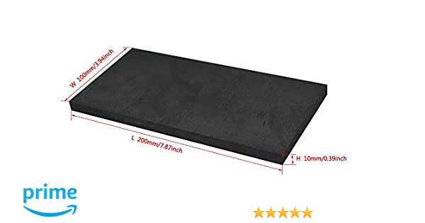 200MMx100MMx20MM Graphite Ingot EDM Graphite Plate Smooth Polished Surface