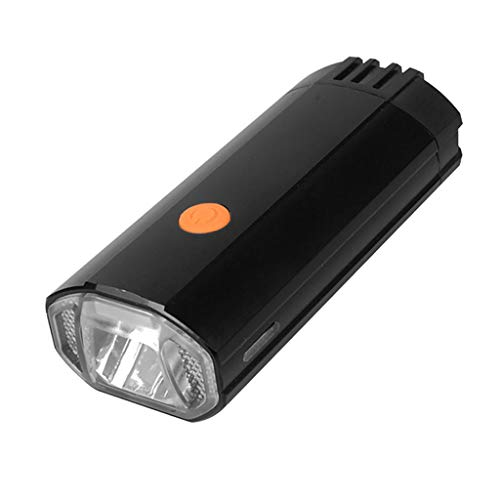 CapsA USB Rechargeable Bike Light Front Bicycle Light Flashlight with 3 Modes Waterproof Cycling Safety Bicycle Headlight T6 LED Head Front Bicycle Lamp Bike Light Headlamp Headlight (Black)