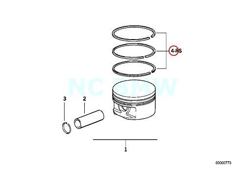 Bmw Piston Ring - Genuine BMW E36 Z3 Cabrio Compact Repair Kit Piston Rings OEM 11251247916