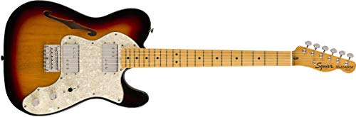 - Squier by Fender Classic Vibe 70's Telecaster Thinline Electric Guitar - Maple - 3-Color Sunburst