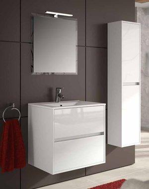 Set mobile bagno in 60 o 70 cm. Noja 600 - 700 con specchio e Spot ...