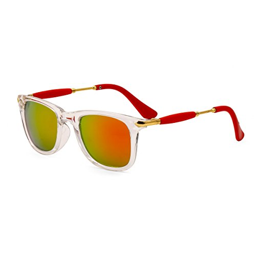 Royal Son UV Protected Square Unisex Sunglasses (WHAT3755|51|Yellow Mirrored Lens)