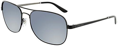 Giorgio Armani Men's AR6040-300181-58 Black Aviator - Aviator Armani Sunglasses Giorgio