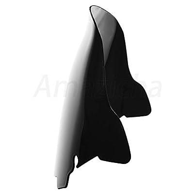 Amazicha 10 Inch Black Wave Windshield Windscreen Wind Splitter Compatible for Harley Davidson Touring Electra Glide Street Glide 2014 2015 2016 2020 2020 2020 2020: Automotive