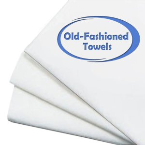 Old-Fashioned Cotton Flour Sack Dish Towels 30 Inch x 30 Inch Set of 3