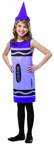 [Rasta Imposta Crayola Tank Dress, 7-10, Wisteria] (Crayola Wisteria Crayon Costumes)