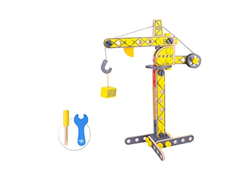 Tooky Toy Crane Wooden Educational Toy, Environment-Friendly, Perfect Fun Wooden Crant ()
