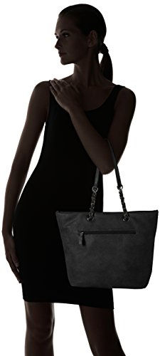 Negro Y Bolsos Mujer Gabor schwarz Ronda De Hombro Shoppers 6xCfqwp
