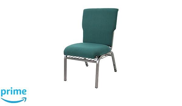 Standard Fabric McCourt 039-10540 Auditorium Stack Chair Forest Green Single