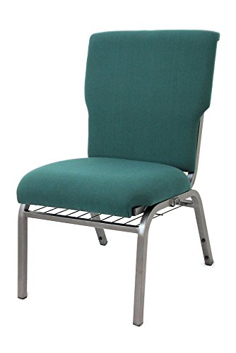McCourt 039-10540 Auditorium Stack Chair, Standard Fabric, Single, Forest Green