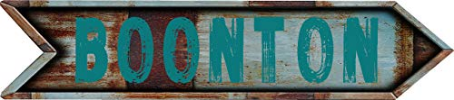 "Any and All Graphics Boonton 4""x18"" Arrow Shaped Rustic Antique Vintage Look Composite Aluminum Novelty décor Sign."