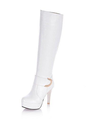 tacco da Scarpe Uk6 Xzz Beige Black Heel casual Cone chiusi Ufficio Vestito Bianco Stivali Nero Eu39 Cn39 e us8 chiusi donna lavoro 65qndRqv