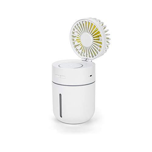 - RoseYary Creative T9usb Rechargeable Atmosphere Light Mini Humidification Desktop Fan