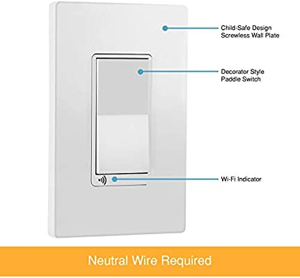 TOPGREENER Smart Wi-Fi Switch, Control Lighting from Anywhere, in-Wall, on