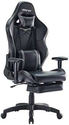 Merax Ergonomic Gaming Chair with Footrest Racing Office Adjustable Swivel Desk Chair Home Office Computer Chair Headrest Support