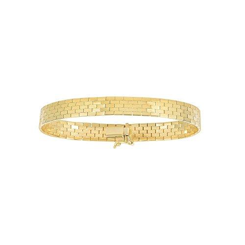 14kt Yellow Gold Mens Bracelet - BH 5 Star Jewelry 14kt 7