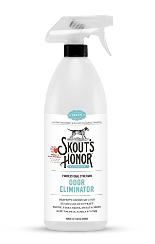 Skouts-Honor-Professional-Strength-All-Natural-Dog-Odor-Eliminator-Non-Toxic-Biodegradable-and-Eco-Friendly-Odor-Eliminating-Technology-Destroys-Odor-Molecules-On-Contact-32-OZ-Spray-Bottle