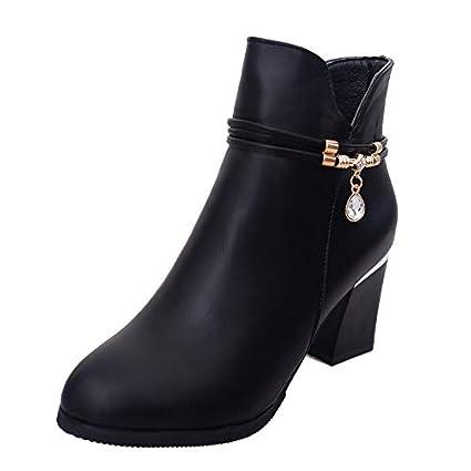Lianaic Tacones Botines De Mujer Gruesa con Zapatos De Otoño E Invierno para Mujer Botas De