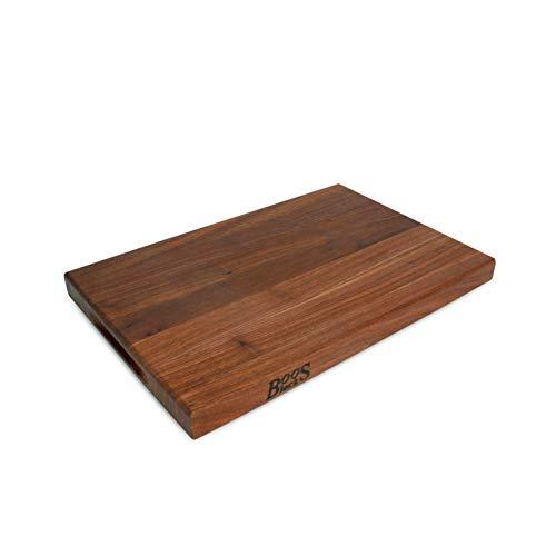 (John Boos WAL-R01 Walnut Wood Edge Grain Reversible Cutting Board, 18 Inches x 12 Inches x 1.5 Inches)
