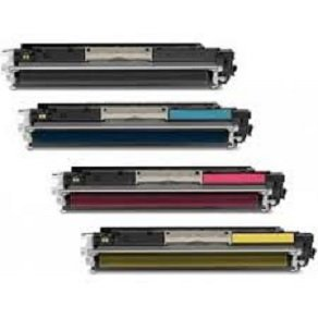 New CE310A CE311A CE312A CE313A Compatible Toner Cartridges for HP Color LaserJet Pro: 100 MFP M175nw, CP1025nw, M275 - 4 Pack - 1 Black + 1 Each Color
