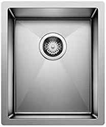 Blanco Stainless Steel 516225 PRECISION R10 Undermount Kitchen Sink, 14.50 x 21.00 x 18.00 inches