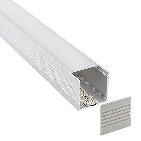 Perfil aluminio VART para tiras LED, 1.5 metros: Amazon.es: Industria, empresas y ciencia
