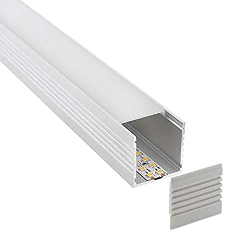 Perfil aluminio VART para tiras LED, 1.5 metros: Amazon.es ...