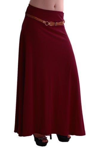 Romina Jupe Maxi Vin Jersey Aux Gitan vase Robe Belted EyeCatch Femmes Dames Longue ZwBx4q